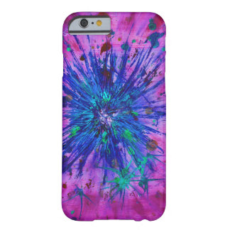 Abstract pink,blue purple starburst barely there iPhone 6 case