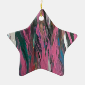 Abstract pink christmas ornament