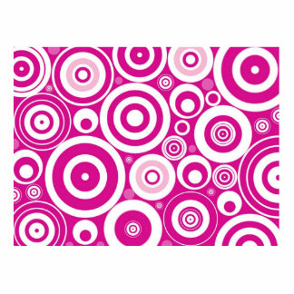 Abstract Pink Circles Standing Photo Sculpture
