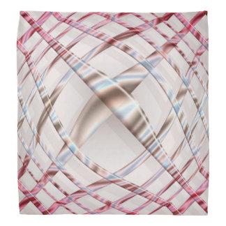 abstract pink dynamic pattern. bandanna