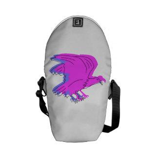 Abstract Pink Eagle Messenger Bag