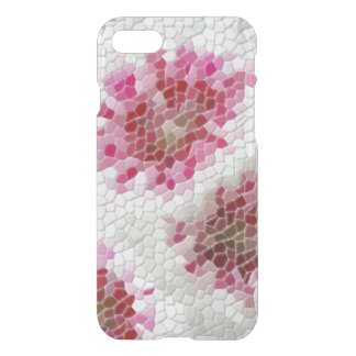Abstract Pink Floral Mosaic Pattern iPhone 7 Case