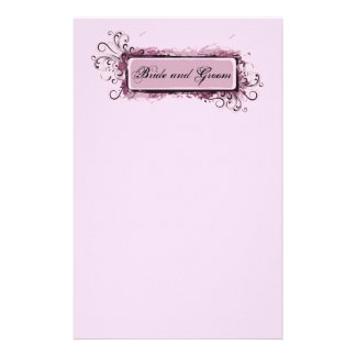 Abstract Pink Floral Wedding Stationery
