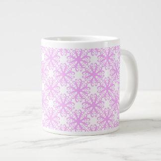 Abstract Pink Flower Latte Mug Jumbo Mug