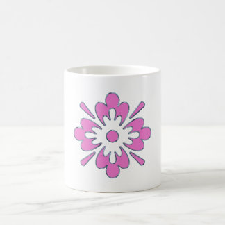 Abstract Pink Flower Coffee Mugs