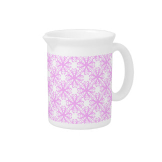 Abstract Pink Flower Pitcher