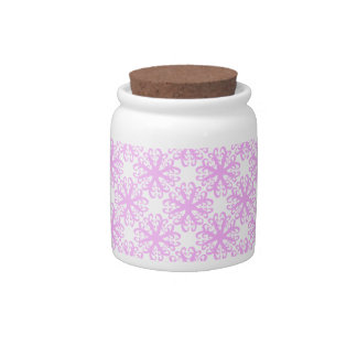 Abstract Pink Flower Sugar / Candy Jar