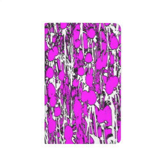 Abstract Pink Flowers Journal