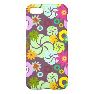 Abstract pink green yellow  floral pattern. iPhone 7 case