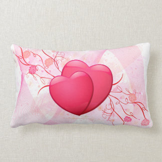 Abstract Pink Hearts American MoJo Pillow