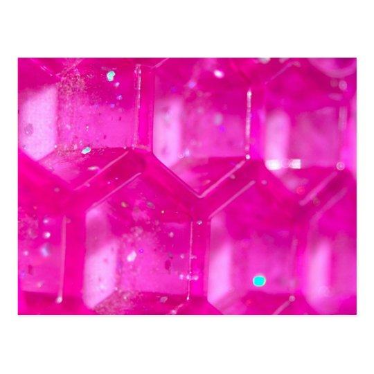 Abstract Pink Hives Postcard