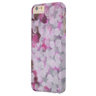 abstract pink painted dots barely there iPhone 6 plus case