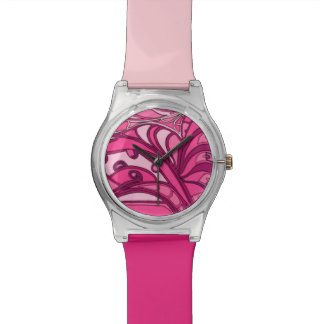 Abstract Pink Panel Painting Watch