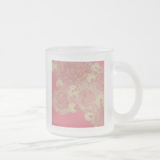 abstract pink pattern floral color personalize art coffee mug