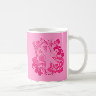 Abstract Pink Ribbon Products Mug