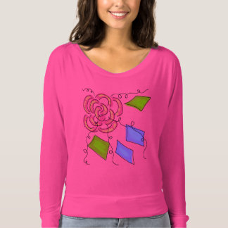 Abstract Pink Rose Wearable Art Shirt