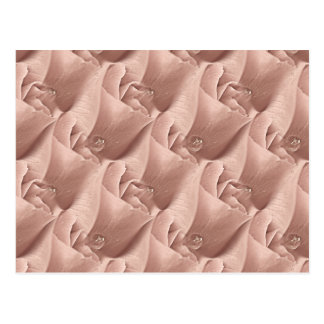 Abstract Pink Rose with Raindrop Wallpaper Pattern Postcard