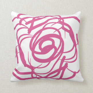 Abstract Pink Roses-Decor Pillow