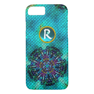 ABSTRACT PINK TEAL BLUE MOSAIC STAR GEM MONOGRAM iPhone 7 CASE