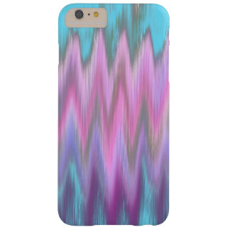 Abstract Pink Teal Girly Ikat Chevron Zigzag Barely There iPhone 6 Plus Case