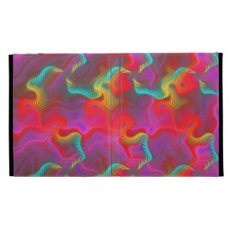 Abstract Pink Teal Red Fractal Pattern iPad Case