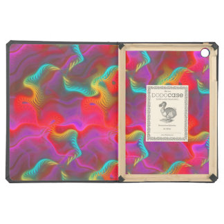 Abstract Pink Teal Red Fractal Pattern iPad Air Cases