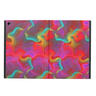 Abstract Pink Teal Red Fractal Pattern iPad Air Cover