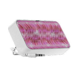 Abstract Pink Wave Travel Speakers