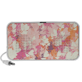 Abstract Pink White Watercolors Hearts Pattern iPhone Speakers
