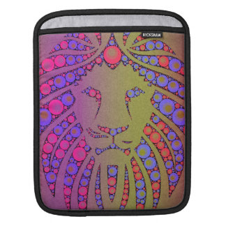 Abstract Pink Yellow lion iPad Sleeves