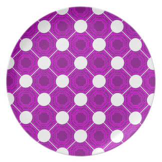 Abstract PinkPurple Square Plate