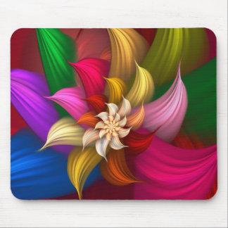 Abstract Pinwheel Mouse Pad