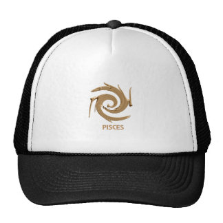 Abstract Pisces Zodiac Hat