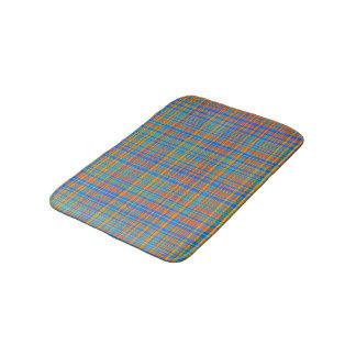 Abstract Plaid Pattern Background Bath Mat