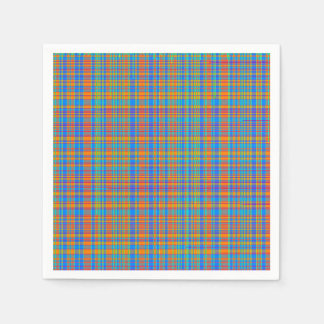 Abstract Plaid Pattern Background Disposable Serviette