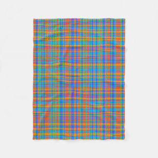 Abstract Plaid Pattern Background Fleece Blanket