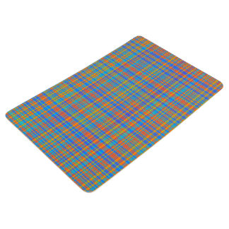 Abstract Plaid Pattern Background Floor Mat