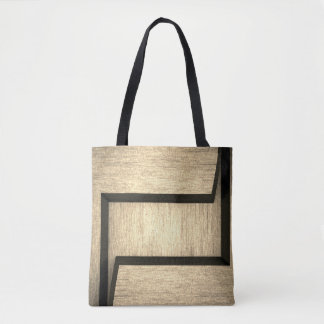 Abstract Plain wood design tote bags