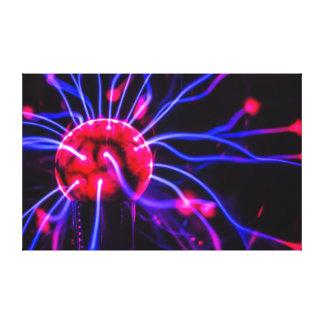 Abstract Plasma Globe Ball Macro Canvas