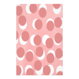 Abstract Polka Dot Faded Pattern Stationery