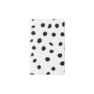 Abstract Polka Dots Pocket Moleskine Notebook