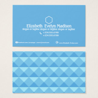 Abstract Polygon Style 0001 Business Card
