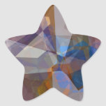 Abstract Polygons 229 Star Sticker