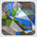Abstract Polygons 230 Square Stickers