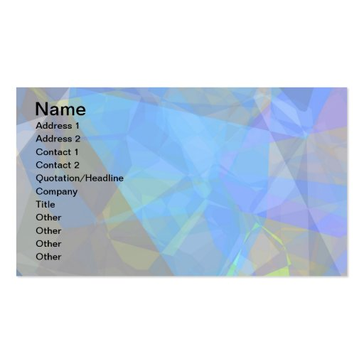 Abstract Polygons 233 Pack Of Standard Business Cards