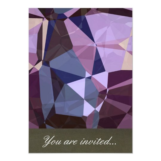 Abstract Polygons 243 13 Cm X 18 Cm Invitation Card