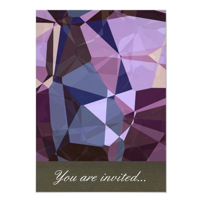Abstract Polygons 243 13 Cm X 18 Cm Invitation Card