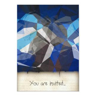 Abstract Polygons 253 13 Cm X 18 Cm Invitation Card