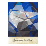 Abstract Polygons 254 Personalised Invitations