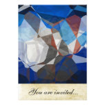 Abstract Polygons 258 Personalised Invitation